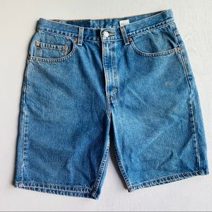 Levi's 505 Denim/ Jean Shorts Medium Blue Wash